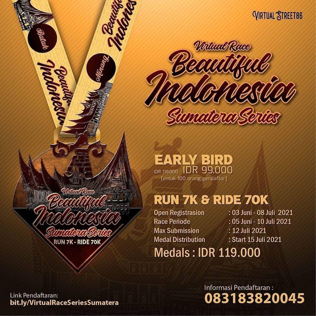 Virtual Race Beautiful Indonesia - Sumatera Series • 2021