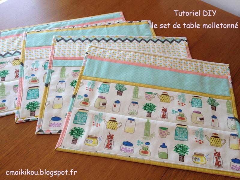 Set de table tissu conceptions de maison for Set de table tissu