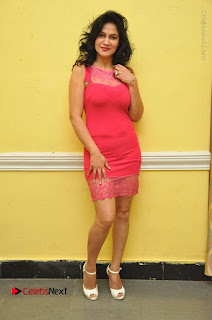 Telugu Actress Vijaya Murthy Stills in Red Short Dress at Www.Meena Bazaar Movie Opening  0096.JPG