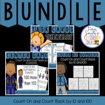Second Grade Go Math Lesson 2.9 Count On and Count Back By 10 and 10) Bundle