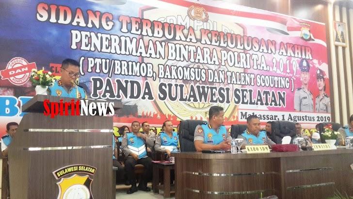 Kapolda Sulsel, Pimpin Sidang Penetapan Kelulusan Bintara, Penerimaan Calon Anggota Polri Secara Teradu TA 2019