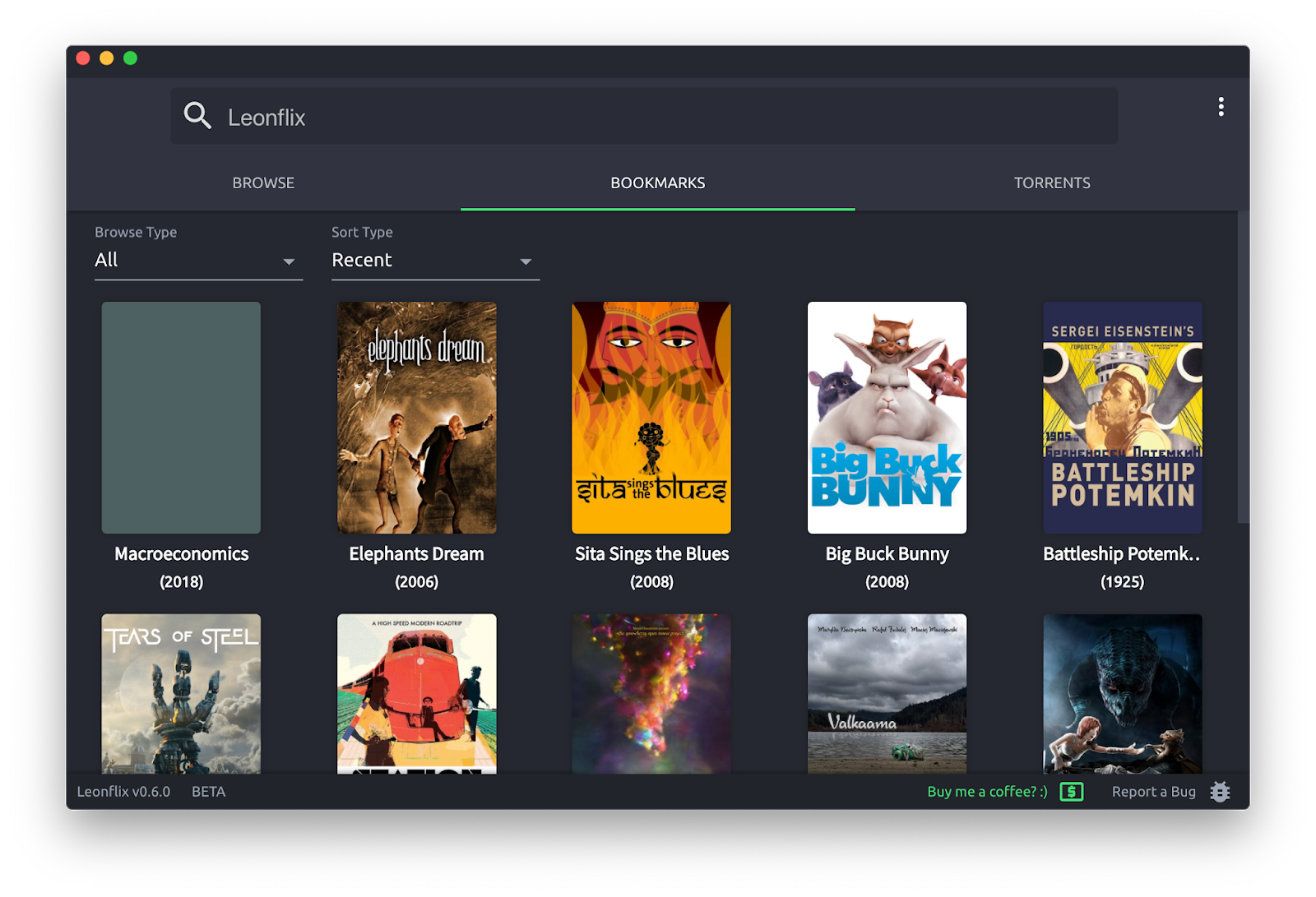 برنامج Leonflix لمشاهدة أحدث الافلام للكمبيوتر PC