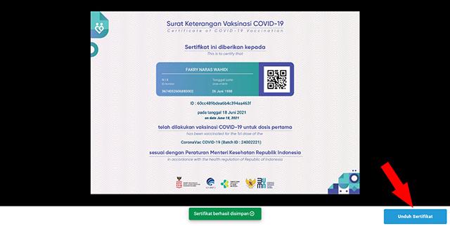download sertifikat vaksin covid-19