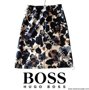Crown Princess Mary wore HUGO BOSS Floral Skirt