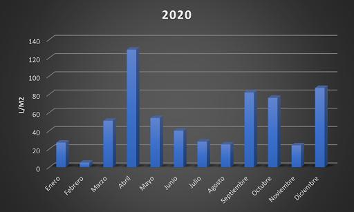 Litros por m² en 2020