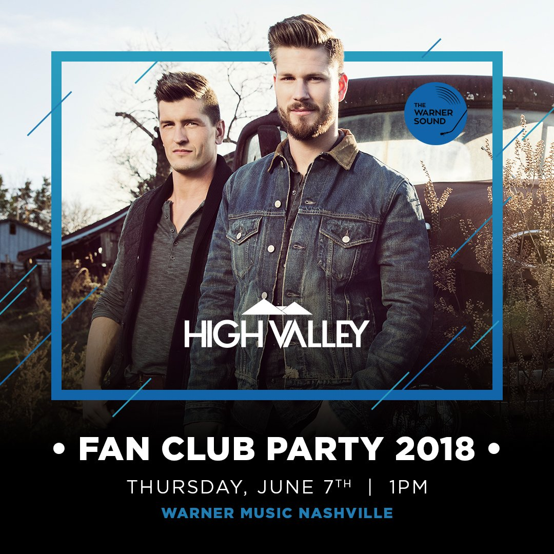 High Valley Announces 2018 Fan Party Tickets On Sale Now 2018
