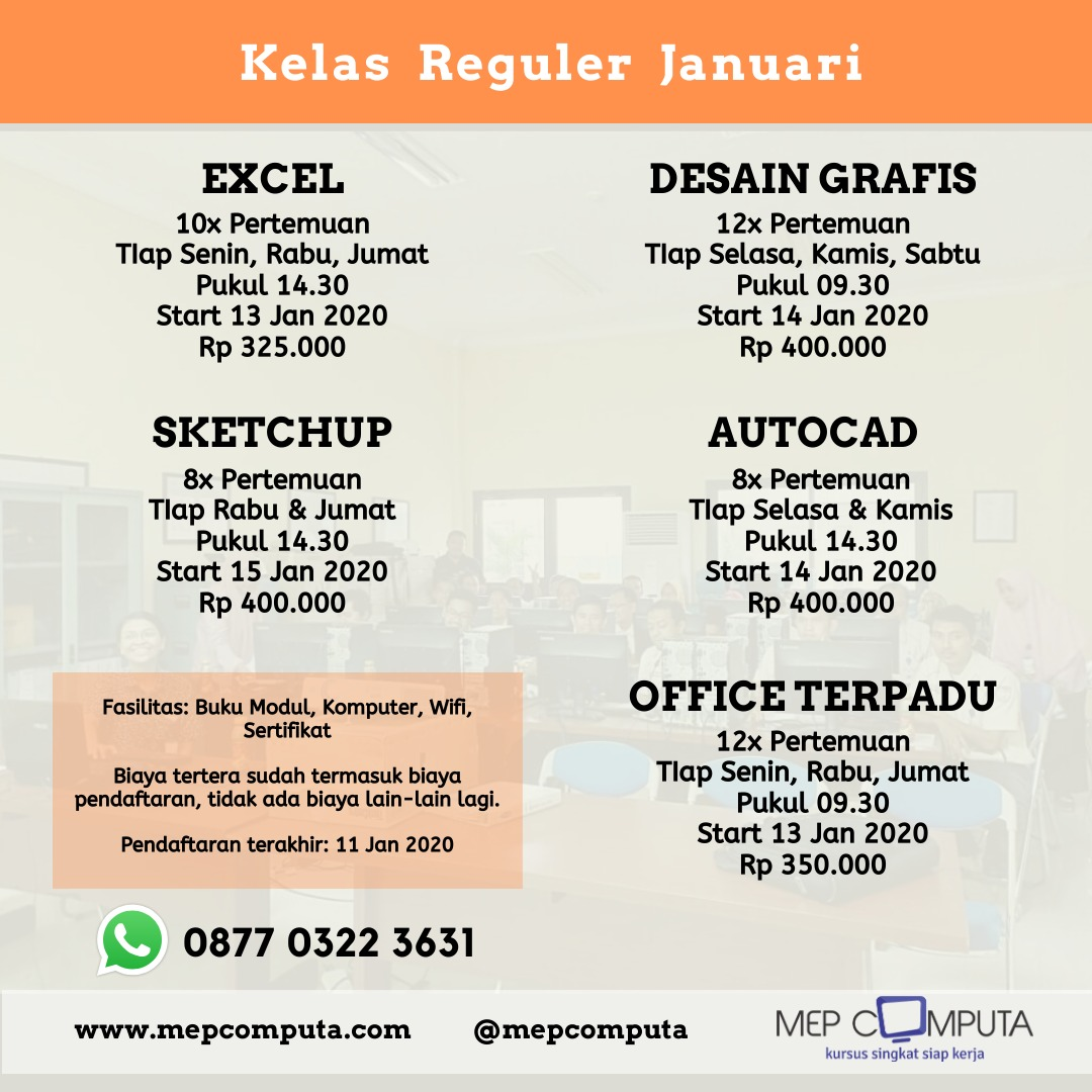 Jadwal Reguler Januari 2020