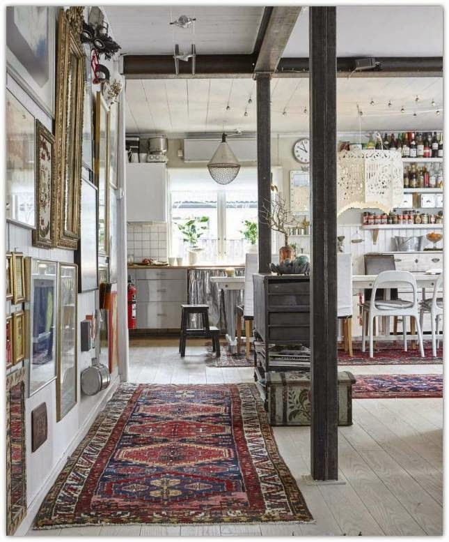 beautiful bohemian style country house located in stockholm where most of the furniture and accessories came from recycling and flea markets - Country House Style
