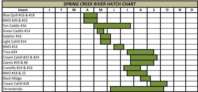 Hatch chart according to http flyfishingconnection springcreekml also flies and lies what warm water does the hatches rh fliesnliesspot