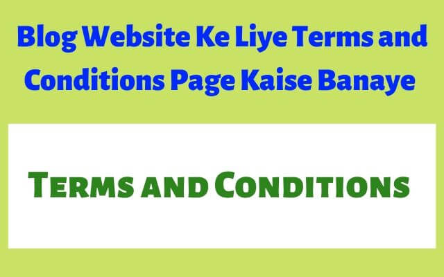 terms and conditions page kaise banaye, terms and conditions generator website
