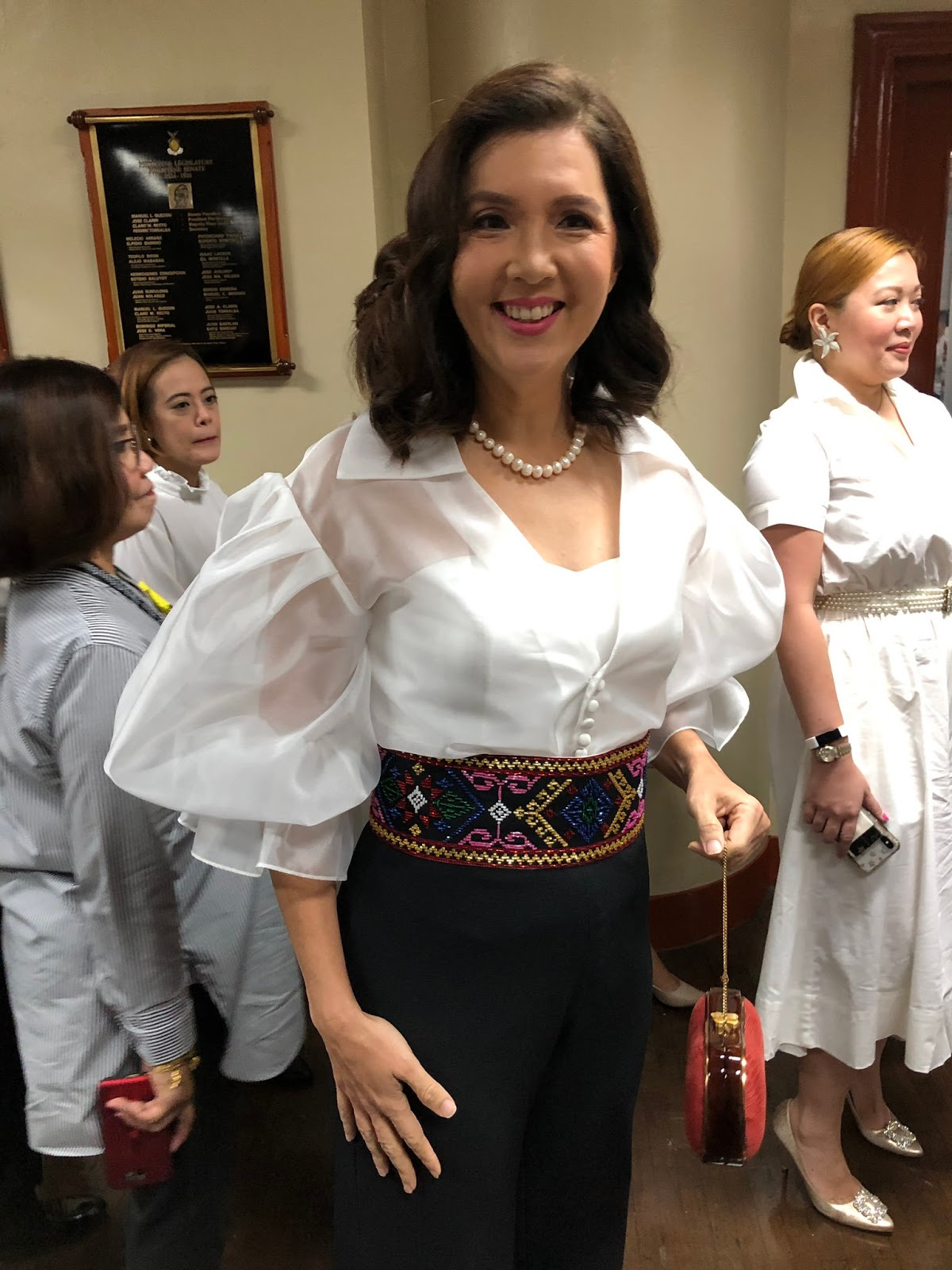 Senator Pia Cayetano before the opening of the 18th Congress
