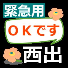 Emergency use.[nishide]name Sticker