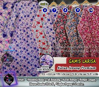 Gamis katun jepang premium motif terbaru harga murah 75.000