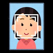 顔認証システムのイラスト