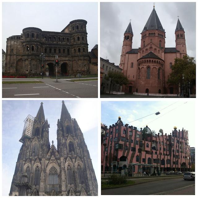 Porta Nigra, Catedral de Mainz, Grünes Zitadelle e Catedral de Colônia - Alemanha