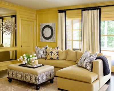 5 Warna Gorden yang Cocok untuk Dinding Kuning