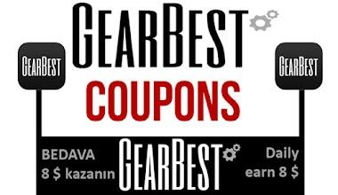 gearbest günlük 8$ kazanın - Earn free 8$ from GearBest