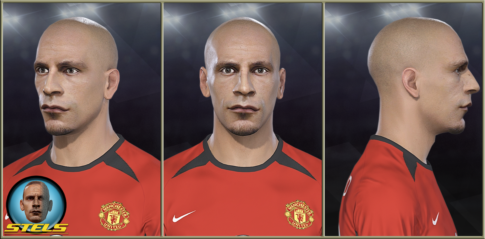 PES 2019 Rio Ferdinand face by Stels