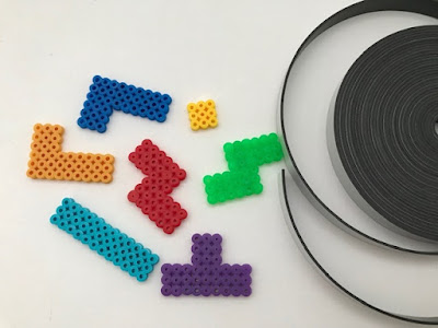 Using magnet tape to make Hama bead magnets