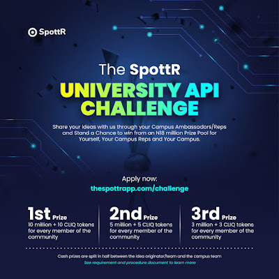 The SpottR Campus API Challenge 2020 | Up to N18 Million Prizes