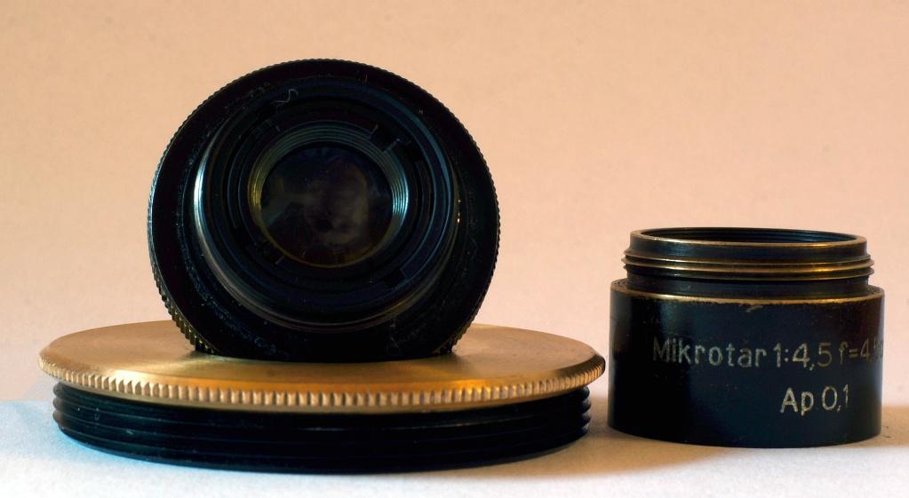 #179 Mikrotar f4.5 45mm – Objektiv mit Adapter