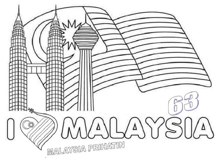 Bendera Malaysia Gambar Jalur Gemilang Untuk Mewarna
