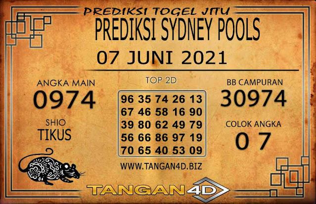 PREDIKSI TOGEL SYDNEY TANGAN4D 07 JUNI 2021