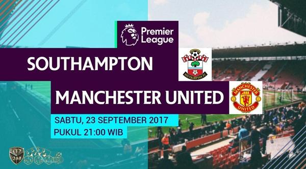 Prediksi Bola : Southampton Vs Manchester United , Sabtu 23 September 2017 Pukul 21.00 WIB