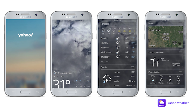Yahoo weather, best weather app for Android