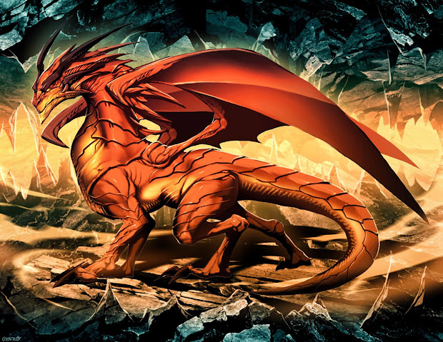 Epic Western Dragon Art