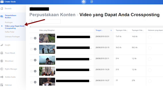 Cara Crossposting Video Facebook