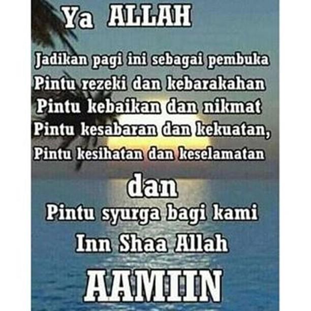 Gambar Kata Doa Pagi Islami Cikimmcom