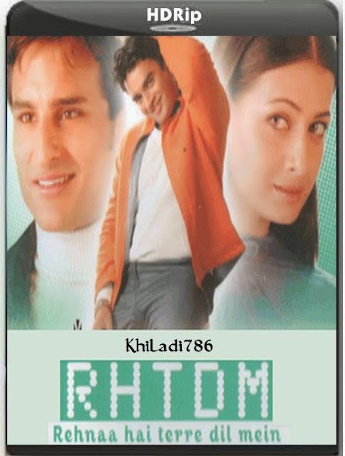 Rehnaa Hai Terre Dil Mein 2001 Hindi DVDRip 700mb