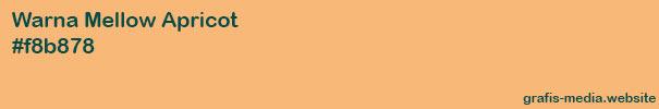 warna lembut apricot