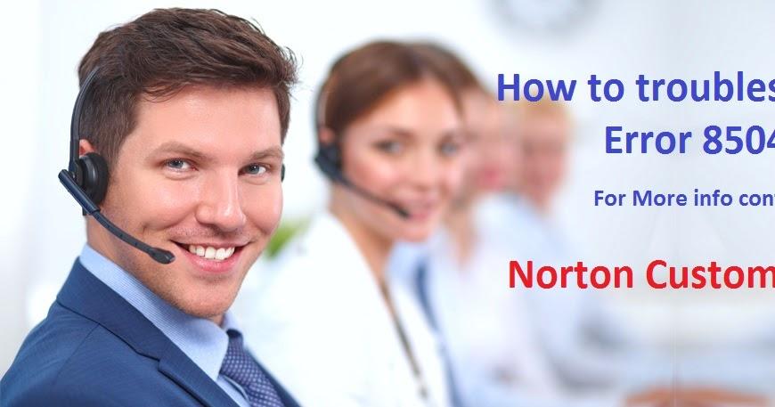 How to troubleshoot Norton Error 8504,104