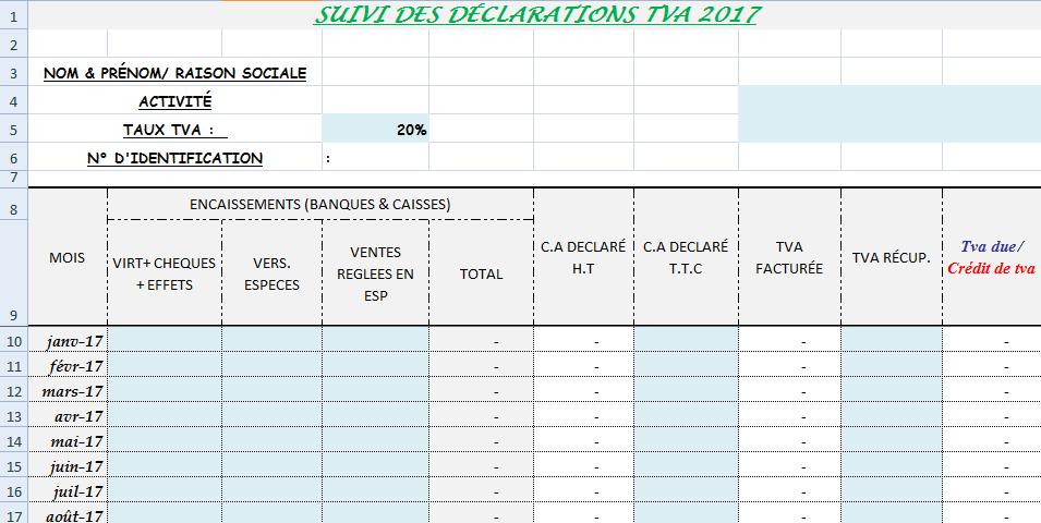 14 - Simple Application pour suivre les déclarations de TVA