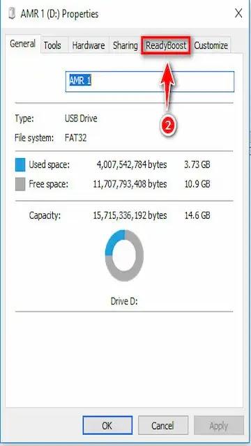 طريقة زيادة حجم الرامات للكمبيوتر عن طريق الفلاشة