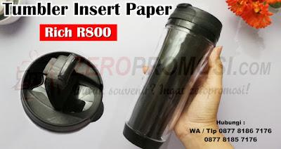 Tumbler Promosi Insert Paper Rich R800, Botol minum insert paper Rich R800
