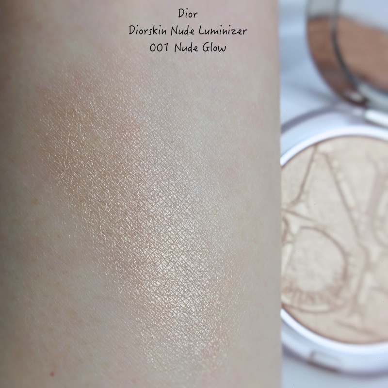 Diorskin Nude Luminizer 001 Nude Glow review swatch