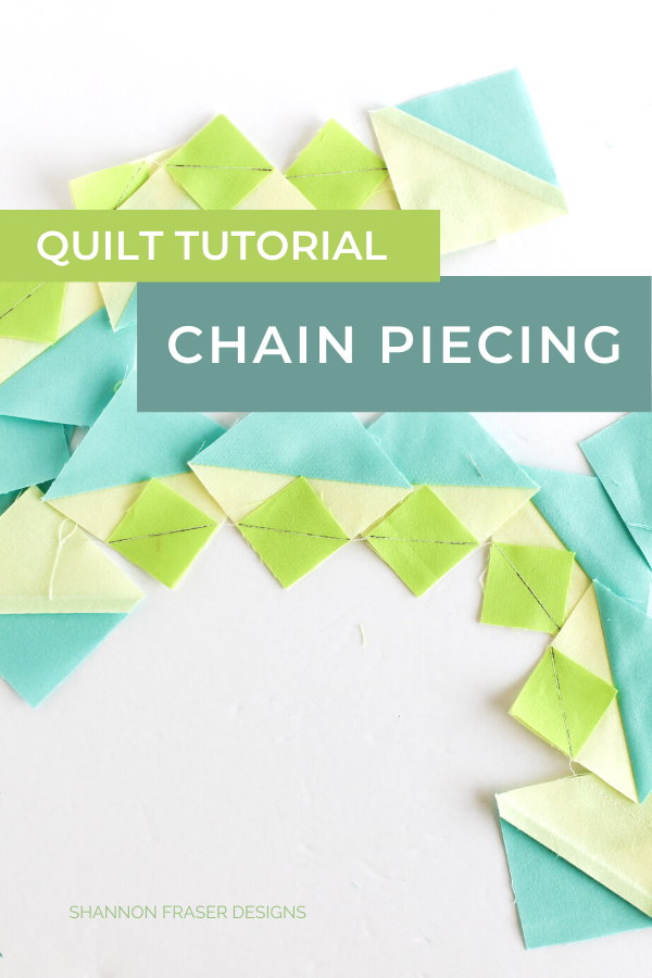 How to Chain Piece quilt blocks | Quilt Tutorial | Shannon Fraser Designs #hst #quiltblocks #tutorial #quilting