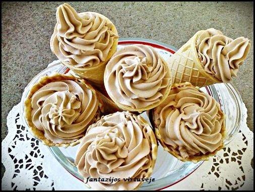 Fantazijos Virtuvėje Kakaviniai Grietinėlės Ledai