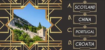 Q 12. Look at the picture and see if you can guess where these stone walls are located!