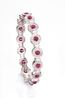 Entice ruby & diamond bangle