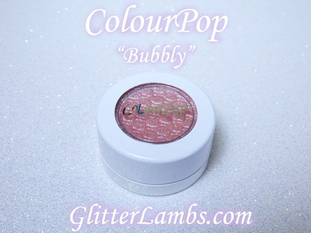 Bubbly Super Shock Eyeshadow ColourPop Swatches-light pink with sliver