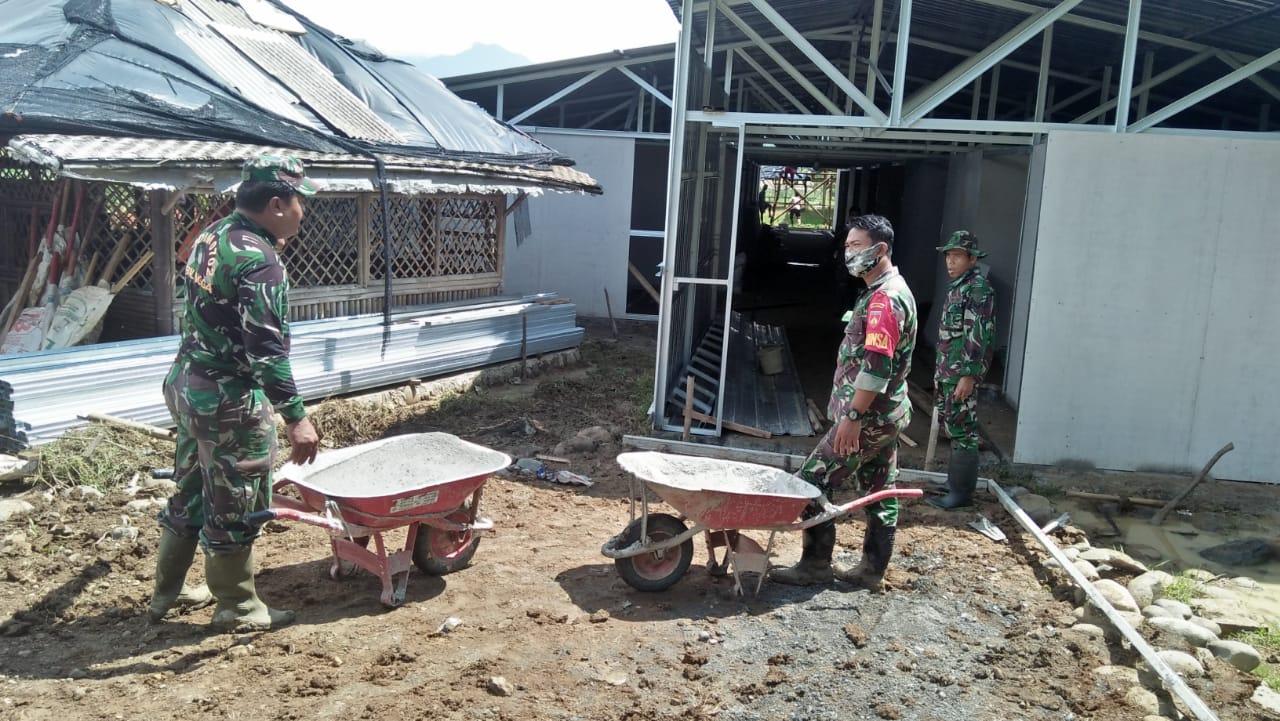 Progres Pembangunan Huntara Bagi Penyintas Bencana Tanah Bergerak Tumanggal Capai 85%
