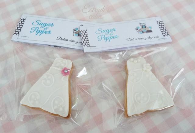 galletas con fondant para boda - 3