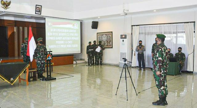 Izak Pangemanan Pimpin Korps Raport Kenaikan Pangkat Makorem Abepura