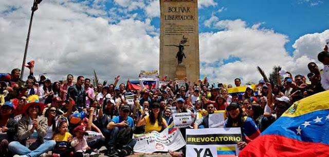 Venezolanos en Bogotá llaman a plantón mundial por libertad y DDHH en el país