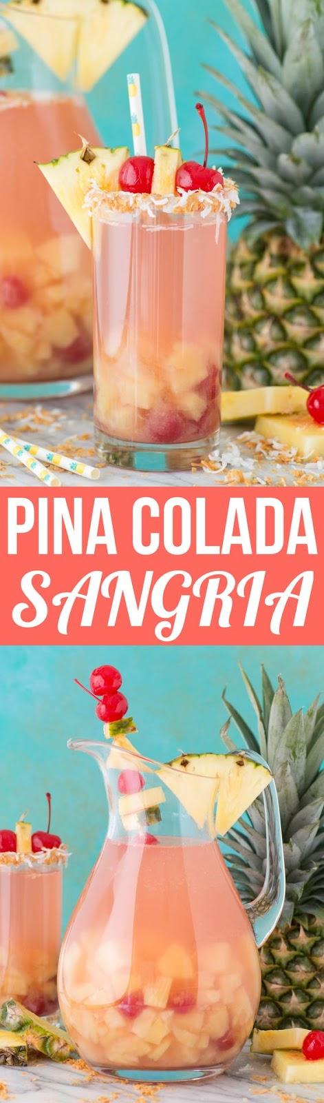 The Best Pina Colada Sangria