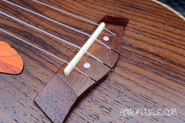 Paisen Rosewood Concert Ukulele bridge